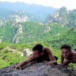 Climbing in the mountains around KunyuShan