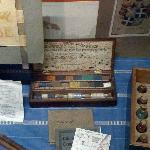 Charles Wade's watercolour box and paintings