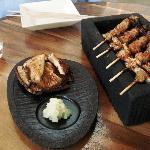 Bar Masa grilled shitake & yakitori
