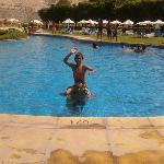 En la piscina con mi primogénito