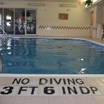 pool and exercise room