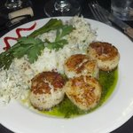 Scallops...with the most delightful Coconut Slaw! MUST GET RECIPE!