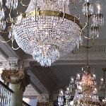 There were at least 6 of these magnificent chandeliers!