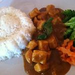 Thai peanut tofu