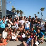 Spain exchange student surf group