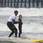Surf school at the Oceanside Pier