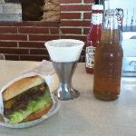 hamburger and cream soda