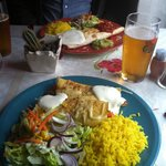 Burrito plate and enchiladas