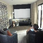 Our own little cinema - great movies to choose from too