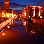 Chester canal at night