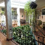 Hotel Milvia courtyard