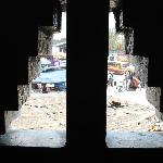 View thru window, Indian Coffee House, Trivandrum