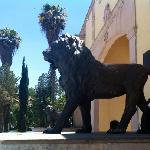"""Leones"" at Parque Guadiana entrance"