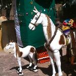 rides for the kids in Parque Guadiana