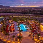 beautiful pool during Arizona sunset