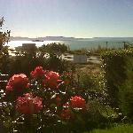 Frente de la cabaña Nº 2 con la vista al Lago...hermosa vista!