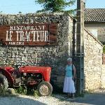 the entrance and the eponymous tractor