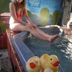 Hot tub! (outdoors)