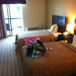two double bed w/balcony clean and nice beds and room
