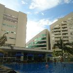 Piscina y gimnasio del hotel
