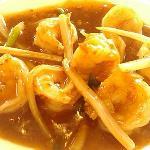 not so Szechuan prawns