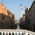 walking to Ca' Venezia from the water bus stop