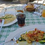 Dinkelschluzkrapfen und Roggenbrotknödel mit Speck und Gemüse - mmh