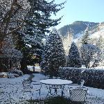 Área externa após aqueda de neve