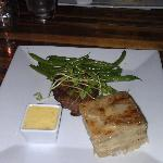 Filet mignon with potato au gratin....