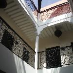 Looking up to the roof terrace