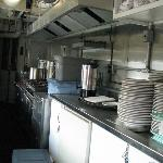 kitchen in dining car