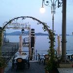 """The Varese side of Lake Maggiore seen from """"Il Veliero"""""""