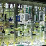 The glass exhibits are extensive.