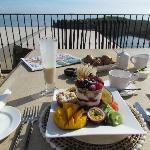 Das fantastische Frühstück auf der Terrasse
