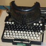 Wonderful old typewriter on display