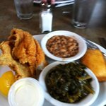 Chez's Catfish, Collard Greens & Blackeye Peas
