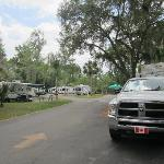 our camp site on right