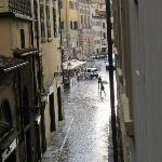 View from window towards piazza
