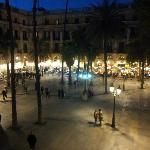 Viwe from the balcony towards Placa Reial