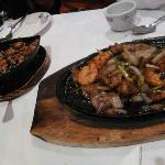special chicken and onion beef & prawn