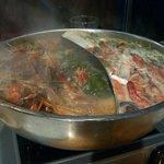Prawn filled hot-pot