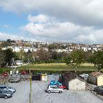 View of Crawford House car park, Cork Cricket Club and Sunday's Well from our room