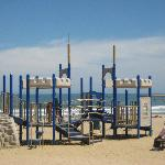 Children enjoy the beach and playground