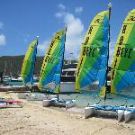 outside area with all their boats, hobie cats, etc