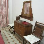 Desk and chairs in bedroom
