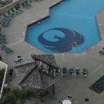 View of the pool from room balcony