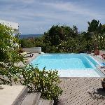 la piscine vue du gite 1