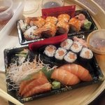 Salmon Box and Dragon Roll