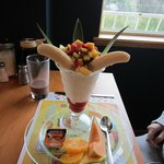 One of the options aside from crêpes.  Sorry, I cannot remember what it was called.