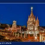parroquia at night